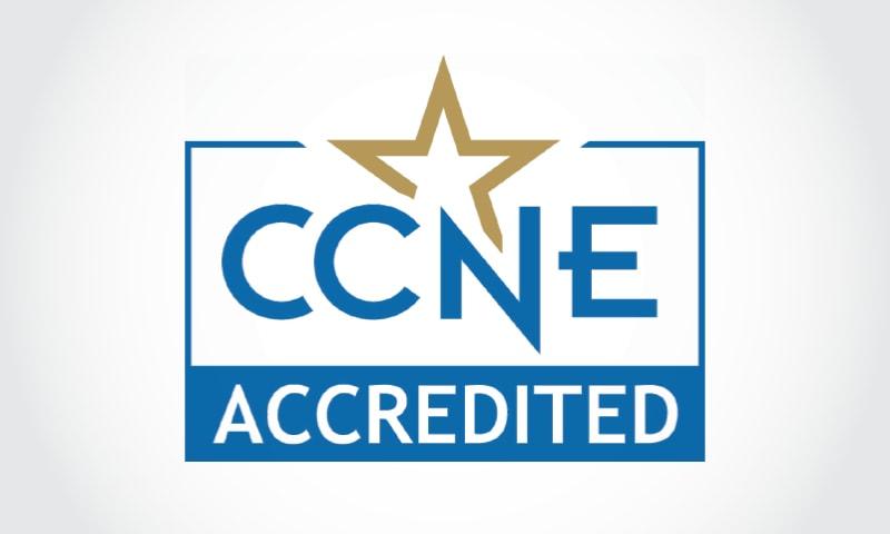 Logo reading CCNE Accredited