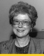 A black and white image of Elizabeth Humphrey.