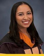 Alyssa Allsop in her graduation gown.